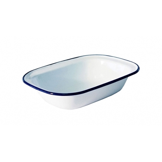 White Enamel 18cm Dish