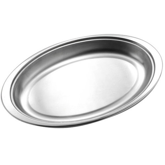 Picture of Stainless Steel Oval Vegetable Dish 18cm