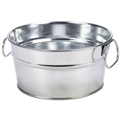 """Picture of Galvanised Stainless Steel Serving Bucket 5.9x3.1"""" (15x8cm)"""