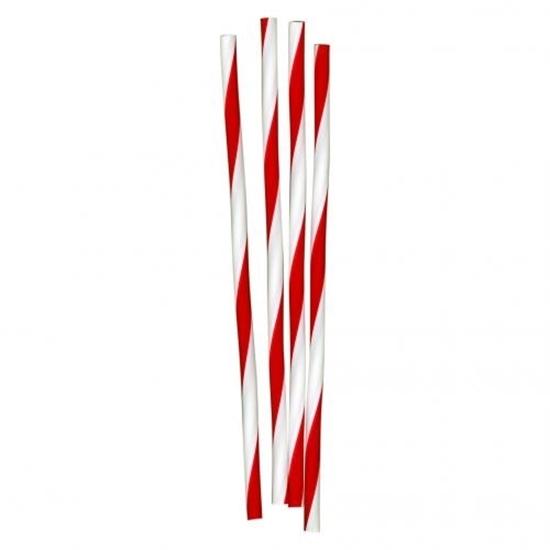 Red & White Barber Straws