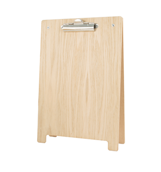 A4 A-Frame Clipboard Natural Wood