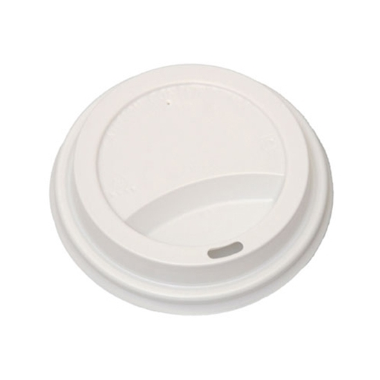 Plastic White Lid For 8oz Bervage Cup