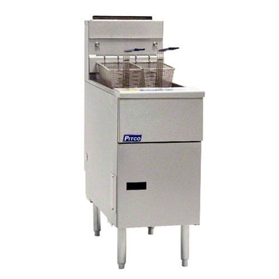Picture of Pitco Twin Tank Gas Fryer 18/23L