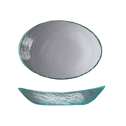 Picture of Scape Oval Glass Bowl 30cm