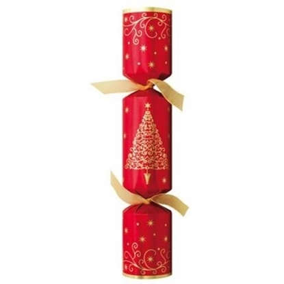 """Picture of Golden Spruce Red Christmas Cracker 12.5"""""""