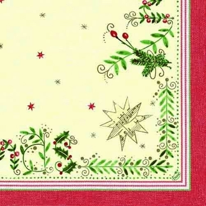 Picture of Christmas Gift Cream Napkins 3-Ply 40cm