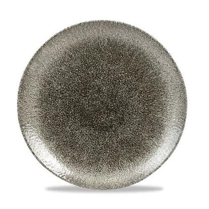 Raku Quartz Coupe Plate Black