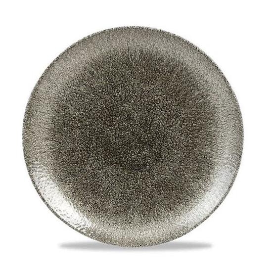 Raku Quartz Black Coupe Plate 28.8cm