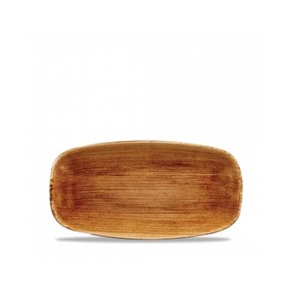 Churchill Stonecast Patina Chef's Oblong Platter Vintage Copper