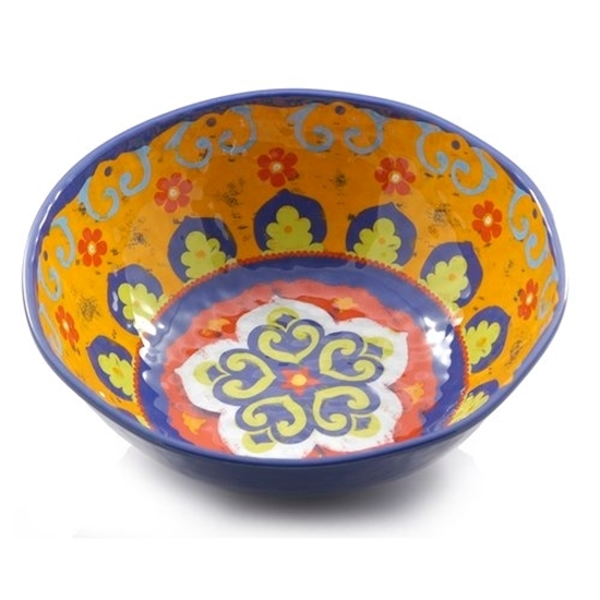 Blue/Yellow Salad Bowl 36cm
