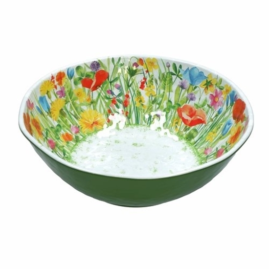 Flores Melamine Salad Bowl
