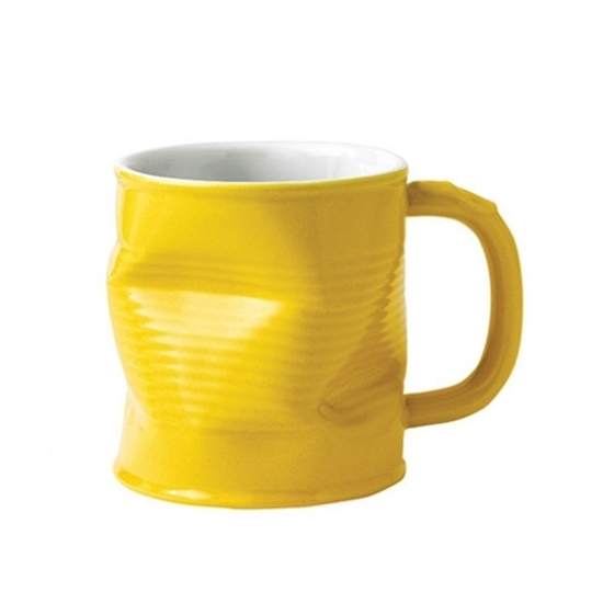 Yellow Crumpled Mug
