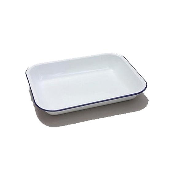 Enamel White Bake Pan Clearance