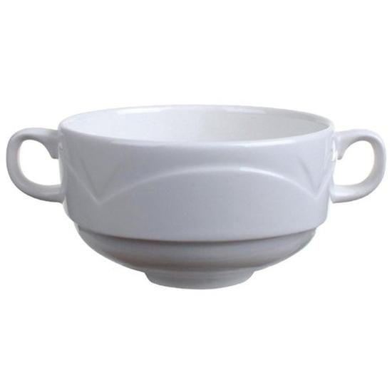 Steelite Bianco White Handled Soup Cup