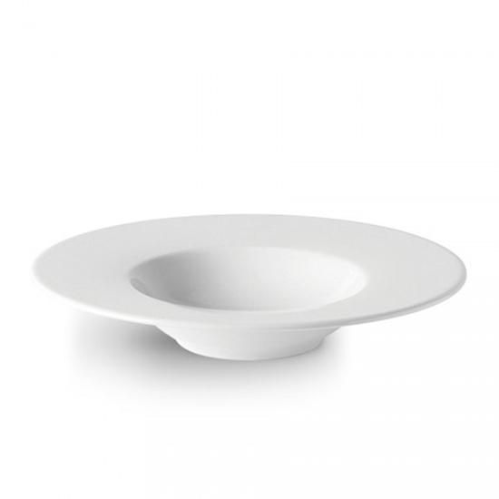 White Wide Rim Bowl