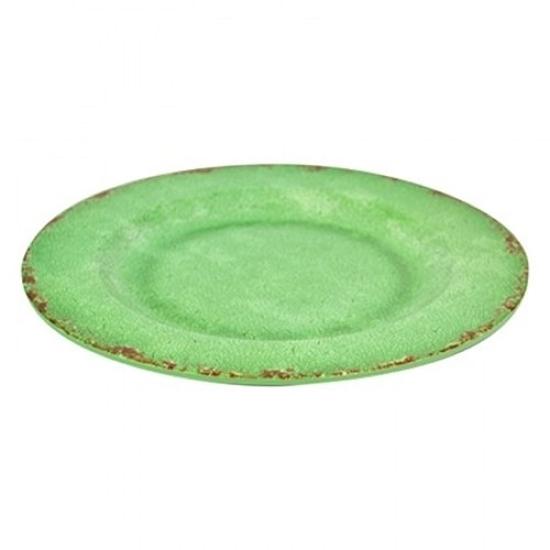 Green Casablanca Melamine Plate