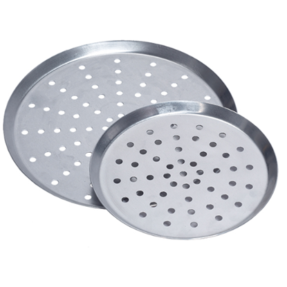 """Pizza Pan 6"""" Perforated 10mm Holes"""
