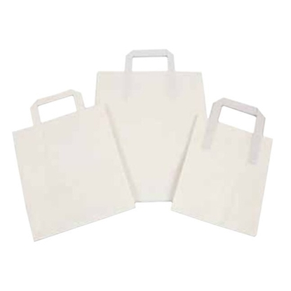 Kraft/White Paper Carrier Bag