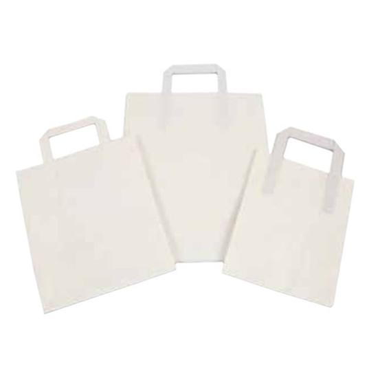 Kraft/White Paper Carrier Bag