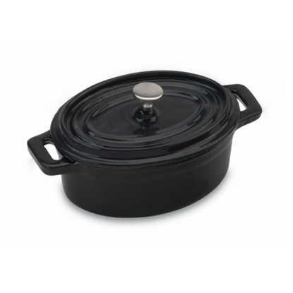 Picture of 10oz Black Mini Oval Cocotte