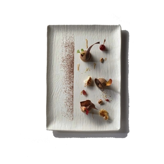 Arboresecence Ivory Rectangular  Plate