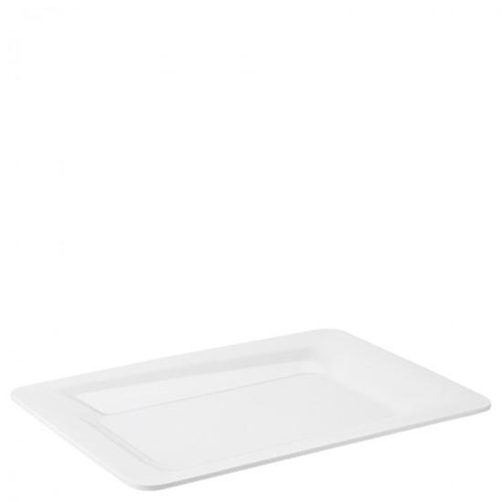 Palette White Rectangular Platter