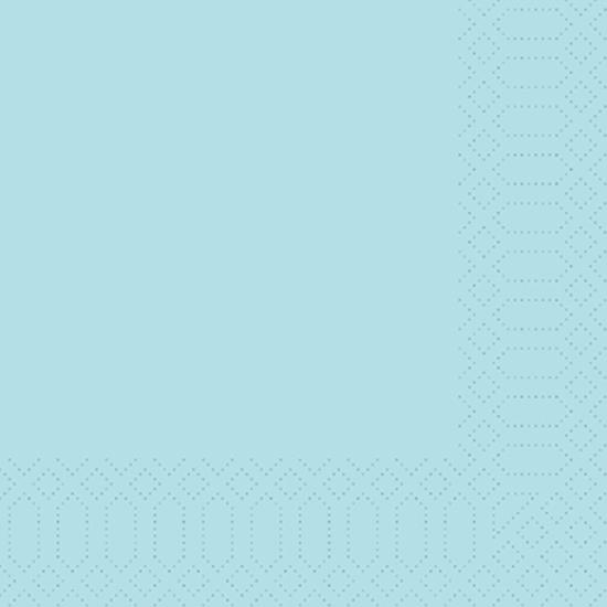 Duni Napkin 3-Ply Mint Blue