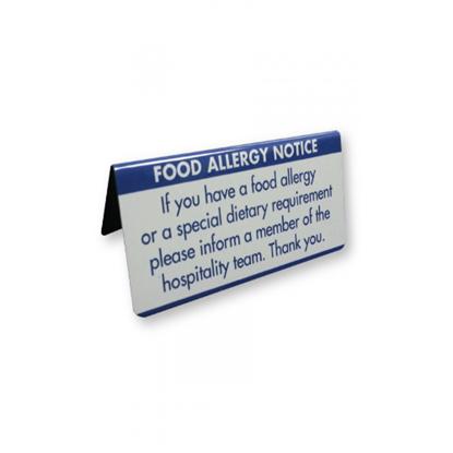Food Allergy Warning Notice