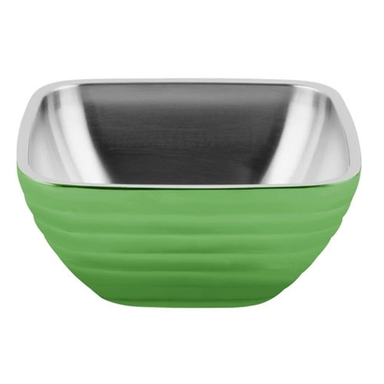 Apple Green Square Double Wall Beehive Bowl