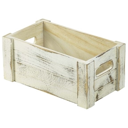 Wooden Crate White Wash Finish