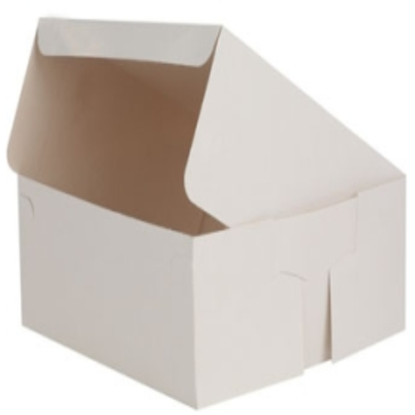 "8"" White Folding Cake Box"
