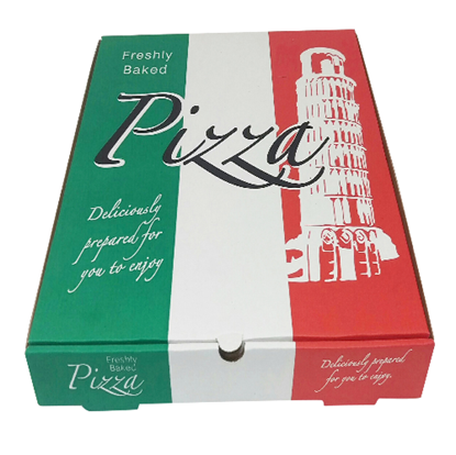 "10"" White Corrugated Italian Pizza Box"