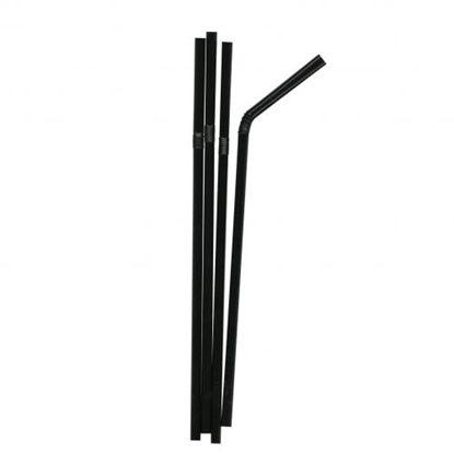"8"" Black Bendy Straw"