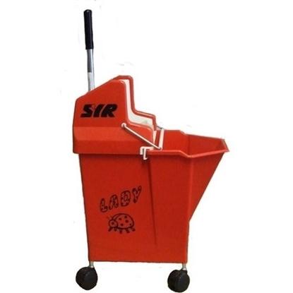 Red Ladybug Mop Bucket