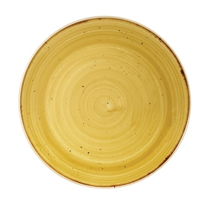 Churchill Stonecast Mustard Seed Coupe Plate