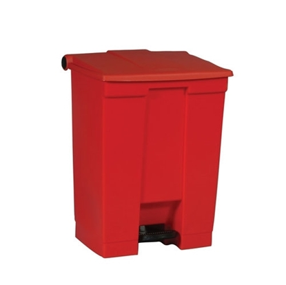 Red Step On Bin 30L
