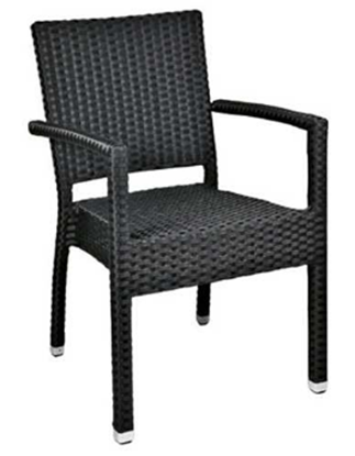 Picture of Mezza Black Chair With Arms