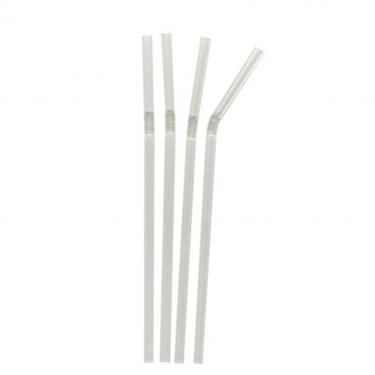 Plastico Clear Jumbo Bendy Straws 398BOXCL