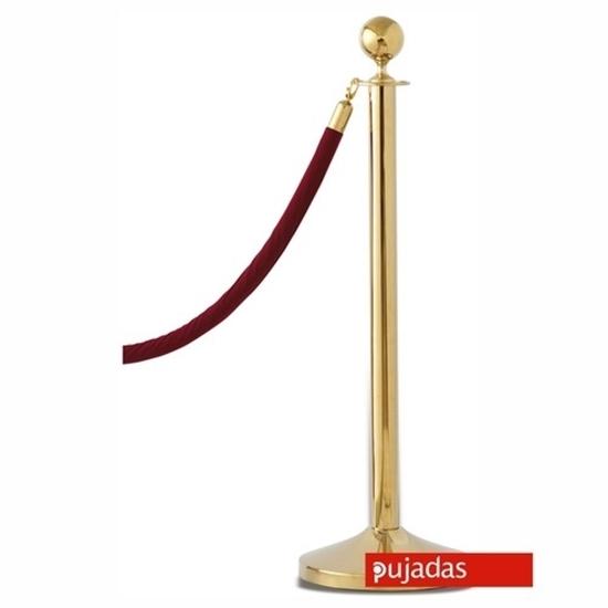 Pujadas Brass Ball Top Barrier Pole