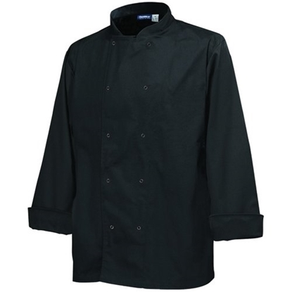 Genware Black Long Sleeve Chef Jacket