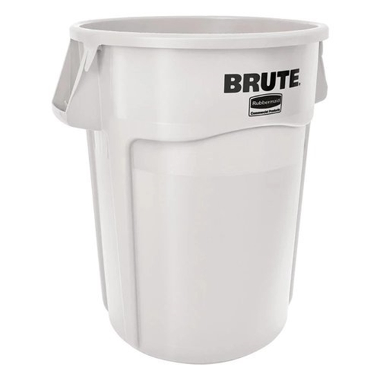 Rubbermaid White Waste Container