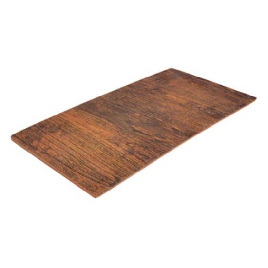 Rustic Wood 1/3 size Melamine Tray w/sf