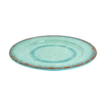 "Blue Casablanca Melamine Plate 9"""