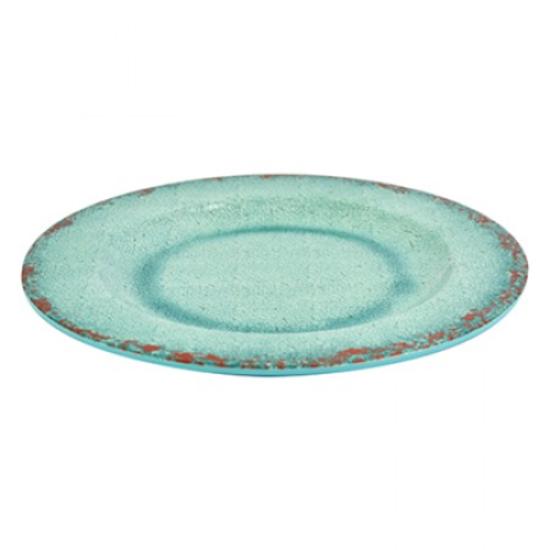"Blue Casablanca Melamine Plate 11"""