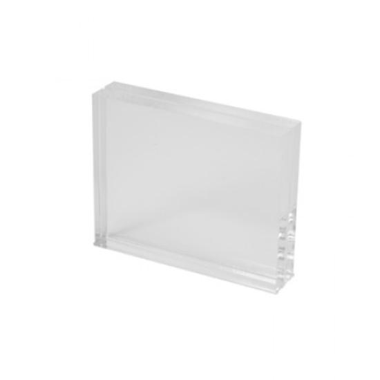 Clear Acrylic Chunky Menu Holder 100 x 80mm