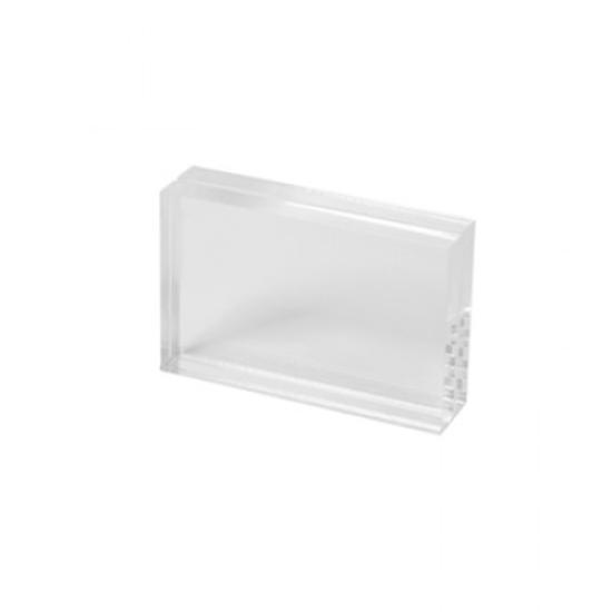 Clear Acrylic Chunky Menu Holder 86 x 54mm