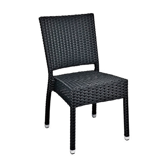 Mezza Black Chair Without Arms