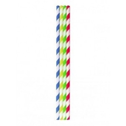 Multi Coloured Paper Straws