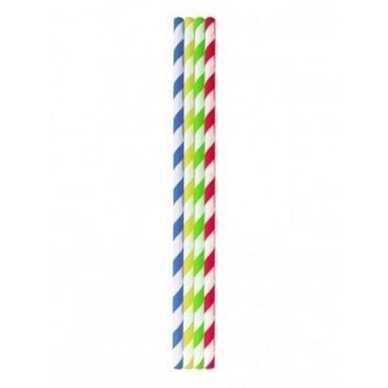 Multi Coloured Paper Straws