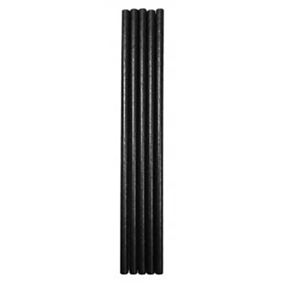 Picture of Black Paper Straws 8""